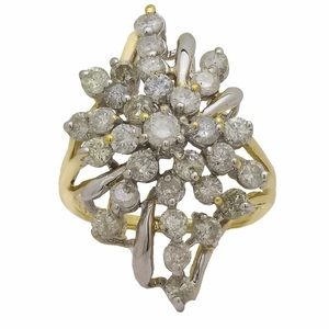 Jewelry - New Lady's Diamond Cluster Ring in 14k Yellow Gold